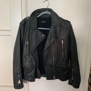 Topshop vegan leather biker jacket